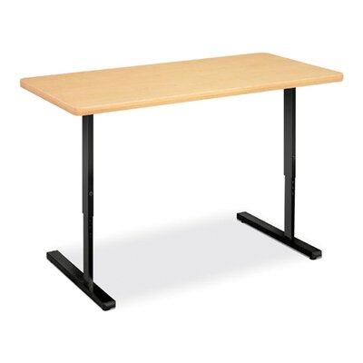 "HON Education Workstation, 48""x24""x32-1/2"", Natural Maple/Black"
