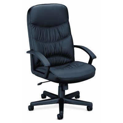 HON Basyx Vl641 Leather High-Back Swivel / Tilt Chair