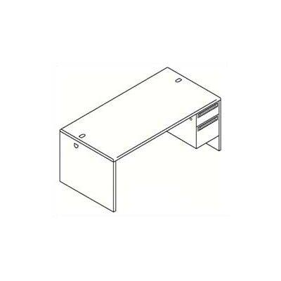 "HON 38000 Series 72"" W Right Pedestal Executive Desk"