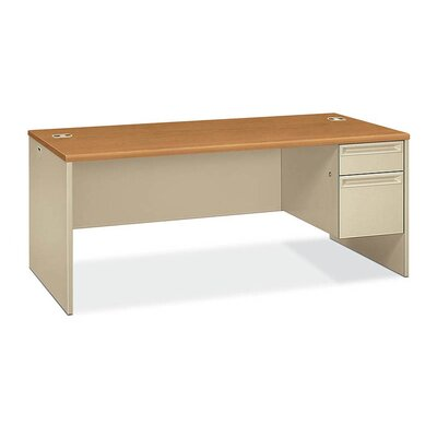 HON 38000 Series Right Single Pedestal Desk with Lock