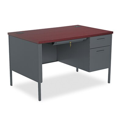 "HON Metro Classic Right Pedestal Desk, 48"" Wide"