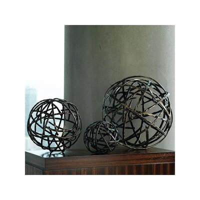 Global Views Strap Sphere Sculpture