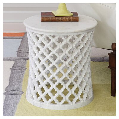 Global Views Marble Arabesque End Table