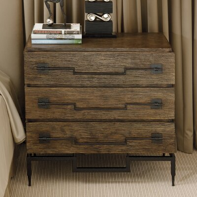 Global Views 3 Drawer Wide Chest