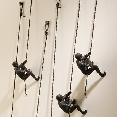 Wall Mounted Climbing Man Sculpture