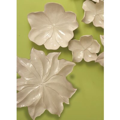 Global Views Magnolia Large Platter Decorative Accent in Ivory