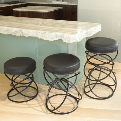 Global Views Ring Cowhide Leather Counter Stool