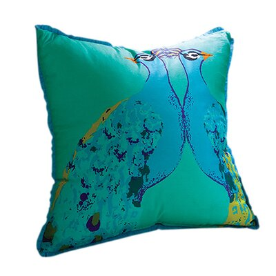 Bassett Hall Peacock Silk Pillow