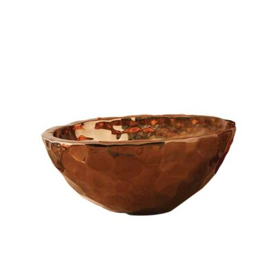 Global Views Bronze Nugget Oval Bowl