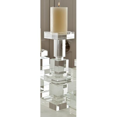 Global Views Brilliant Pillar Crystal Candlestick