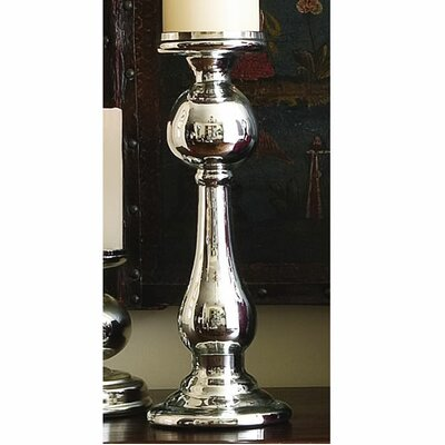 Global Views Britannia Mercury Glass Candle Holder