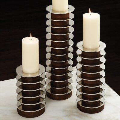 Global Views Stacked Plate Candle Holder