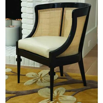 Global Views Cane Cowhide Leather Arm Chair