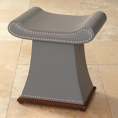 Global Views Sultan Cowhide Leather Bench