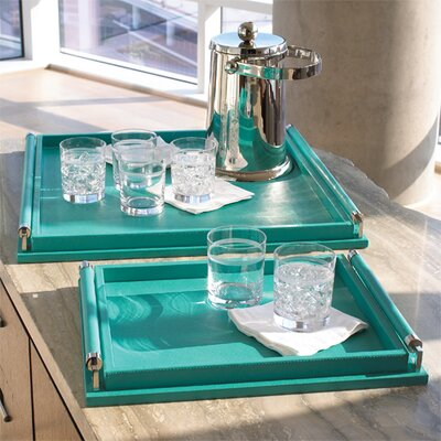 Global Views Small Wrapped Handle Tray
