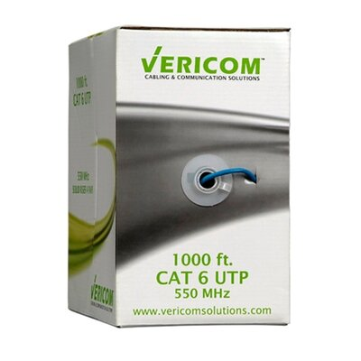 TechTent Vericom CAT 6 UTP Solid Riser CMR Cable Pull Box