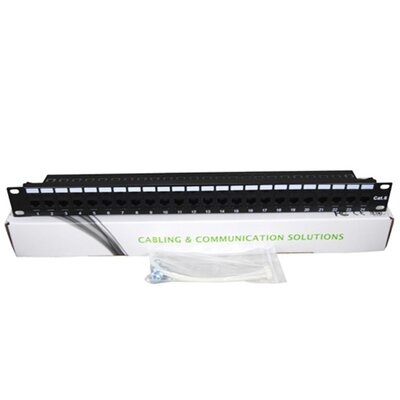 TechTent CAT6 24 Port Keystone Pass Through Patch Panel