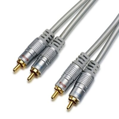 TechTent 12 ft. 2 RCA Left Right Audio Cable