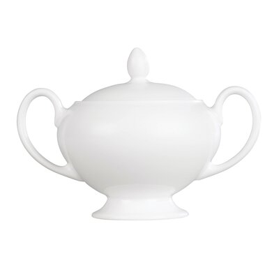 Wedgwood White Leigh Sugar Bowl