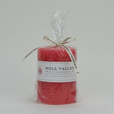 Mill Valley Candleworks Watermelon Scented Pillar Candle