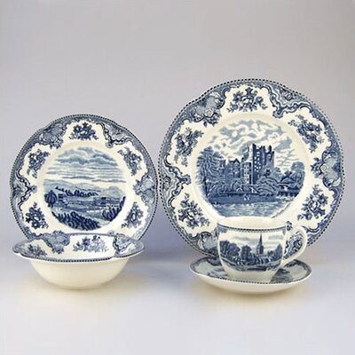Johnson Brothers Old Britain Castles Blue 5 Piece Place Setting