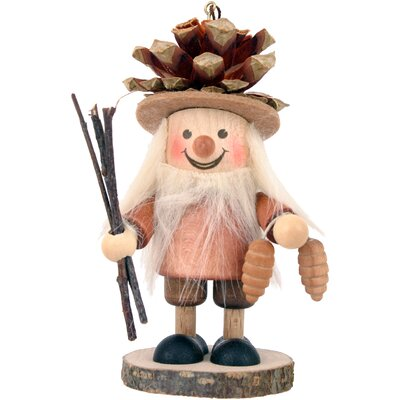 Christian Ulbricht Pinecone Boy in Natural Wood Finish Ornament