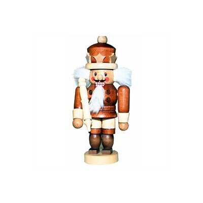 Natural Light Wood Mini King Nutcracker