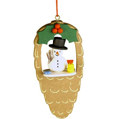 Christian Ulbricht Snowman Pinecone Ornament