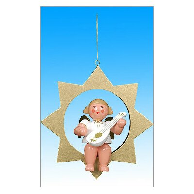 Angel Gold Star Ornament