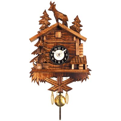 Battery Operated Clock with Standing Deer