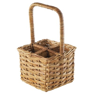 Eco-Friendly 4 Bottle Wine Basket