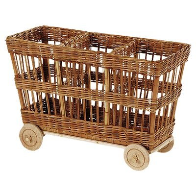 "Eco Displayware Eco-Friendly 23"" 3 Compartment Cart"