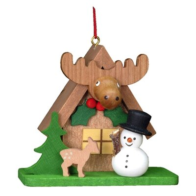 Alexander Taron Christian Ulbricht Tiny Snowman with an ELK Ornament