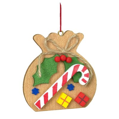 Alexander Taron Christian Ulbricht Brown Sack with Candy Cane Ornament