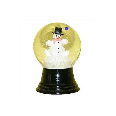 Alexander Taron Snowman with Balloon Snow Globe