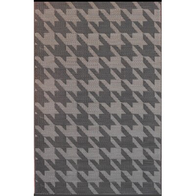 Houndstooth Charcoal/Black Rug