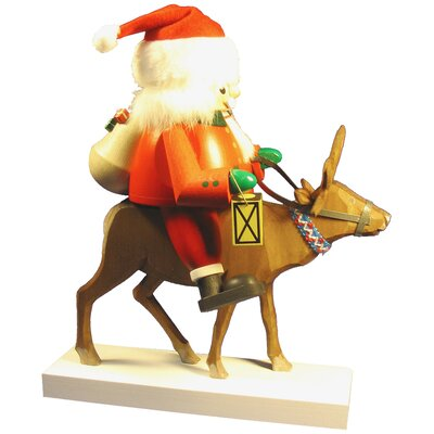 Richard Glaesser Santa on Reindeer Nutcracker