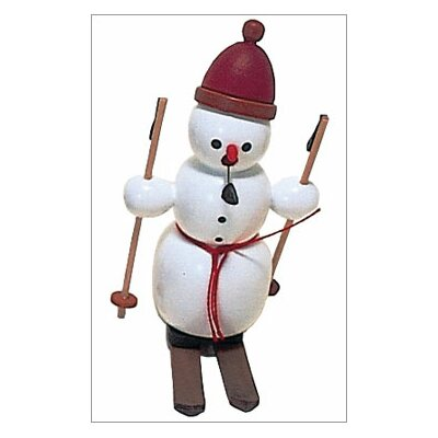 Richard Glaesser Snowman on Skies Incense Burner