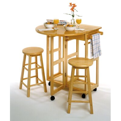 Winsome Basics Round Breakfast Bar w/ 2 Stools