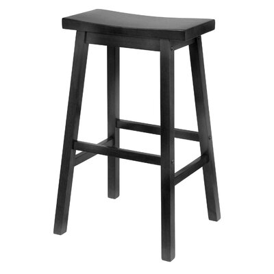 "Winsome Saddle Seat 29"" Bar Stool in Black"