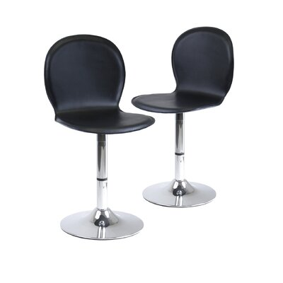 Shell Faux Leather Swivel Dining Chairs (Set of 2)