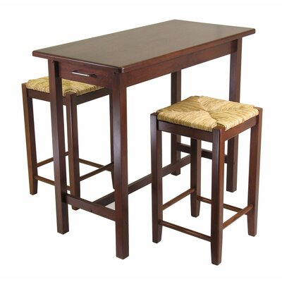 Winsome 3 Piece Counter Height Dining Set