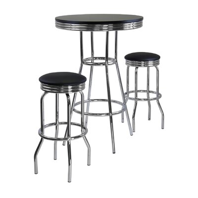 Winsome Summit 3 Piece Pub Table Set