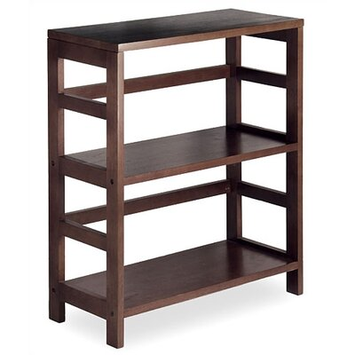 Espresso Wide 2 Section Storage Shelf