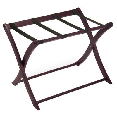 Winsome Espresso Luggage Rack w/ Curved Legs