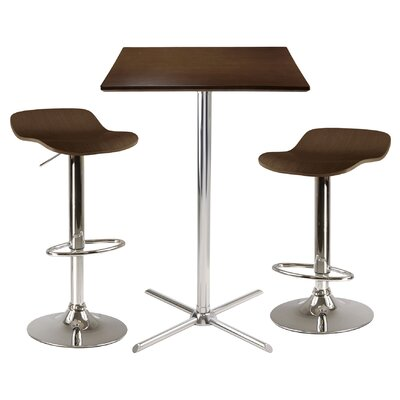 Winsome Kallie Square Pub Table Set