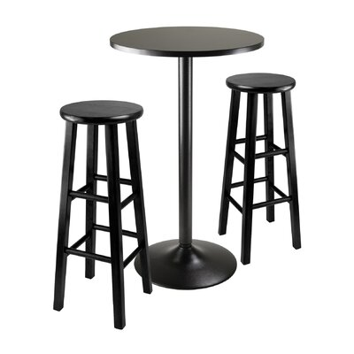 Obsidian 3 Piece Pub Table Set