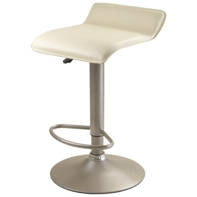 Winsome Adjustable Airlift Bar Stool in Creme