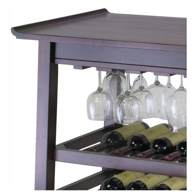 Winsome Chinois Console 25 Bottle Wine Rack