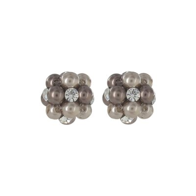 Roman Simulated Cultured Pearl Cluster Stud Earring